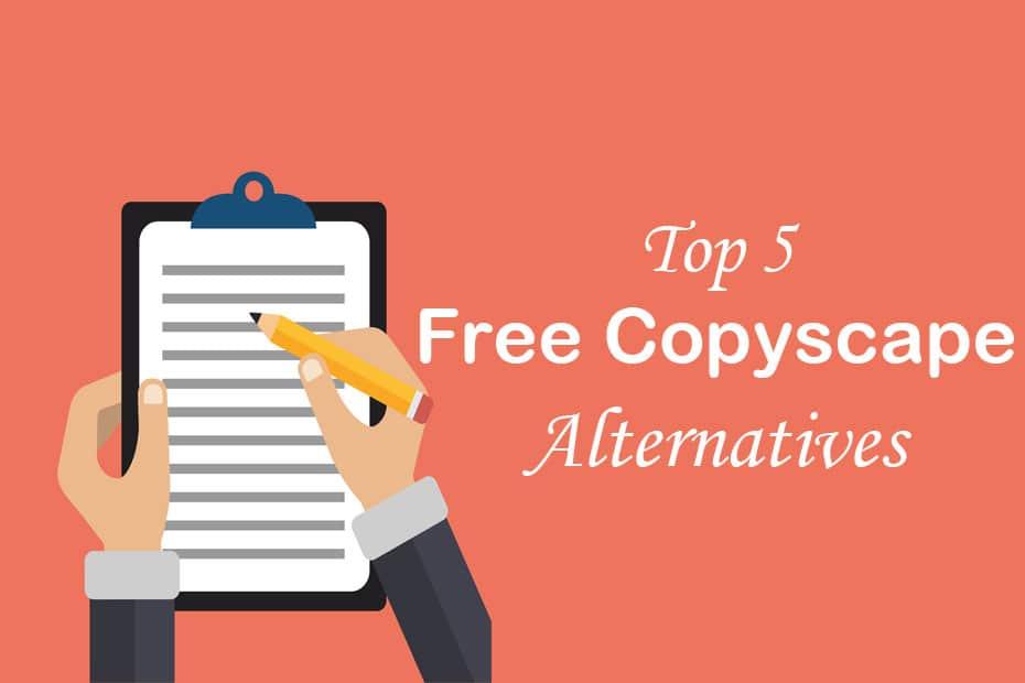 Free Copyscape Alternatives